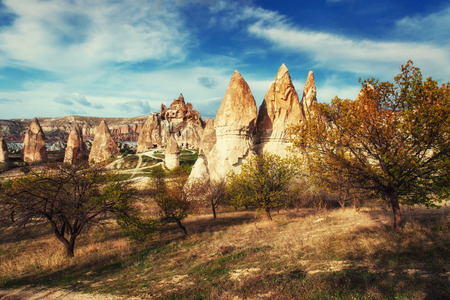 seljuk: cave city in Cappadocia Turkey Stock Photo