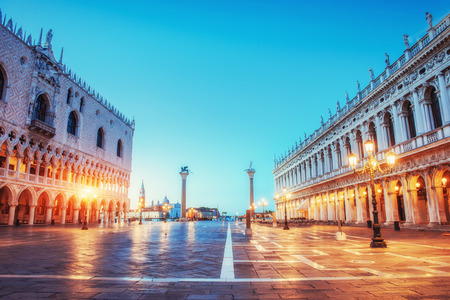 St Marks Square and Campanile bell Stock Photo