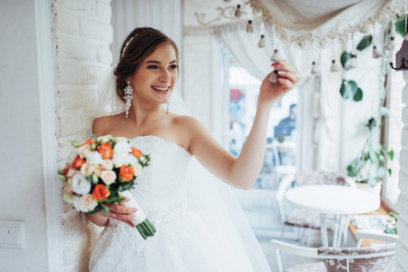 portrait of a beautiful girl in wedding day