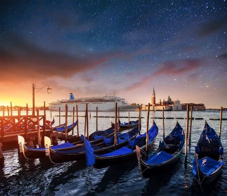 night views: Fantastic views of the gondolas. Starry sky night