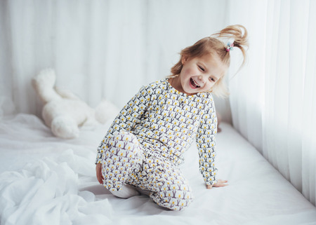 Child in pajama Stock Photo