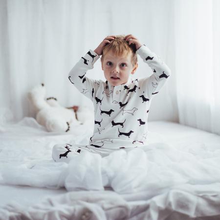 Child in pajama Stock Photo