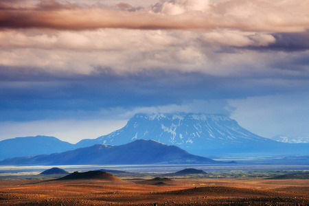 volcano in northern Iceland Stock Photo