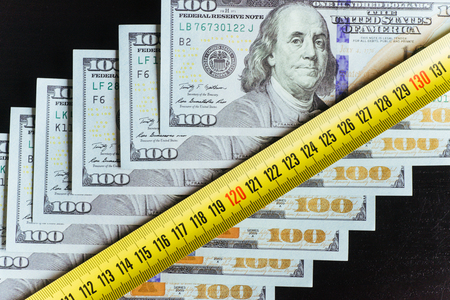 transfers: American Dollars. One Hundred Dollar Banknotes, 100 Stock Photo