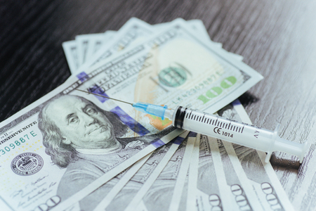 meth: drug, dollar, money, addiction and substance abuse concept - clo