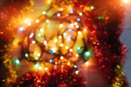 Christmas toys background. Abstract Stock Photo