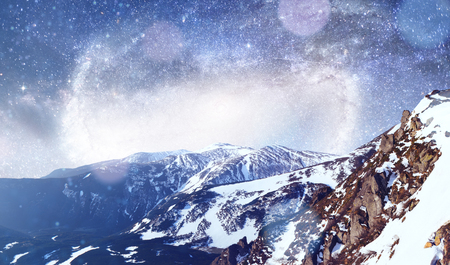 fantastic winter meteor shower and the snow-capped mountains. Dr