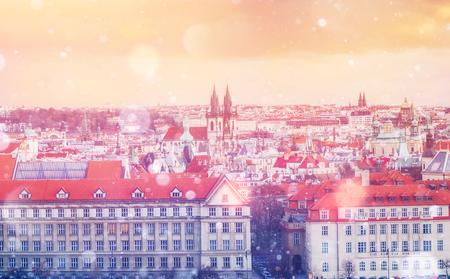 beautiful houses Czech Republic. Photo greeting card