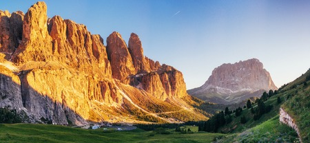 Picturesque Dolomites landscape with mountain road. Italy Reklamní fotografie