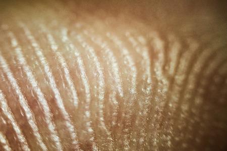 クローズアップ人間の皮膚のパターンを見て