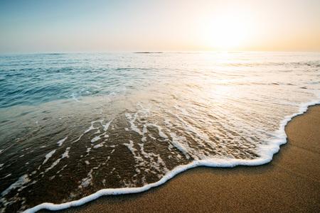 Fantastic sunset on the beach. beautiful landscape Stock Photo