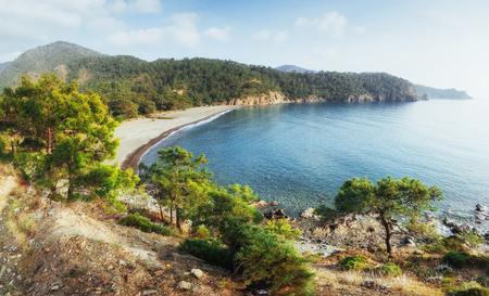 Panoramic view on sea coast. Beauty world Banco de Imagens - 85472098