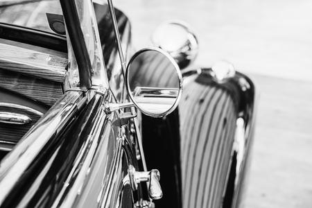 part retro car close-up.