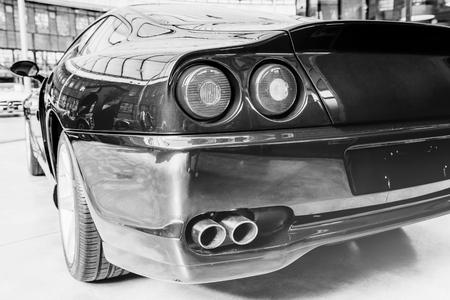 ヴィンテージのトランスポートのレトロな車。美しい展覧会 写真素材