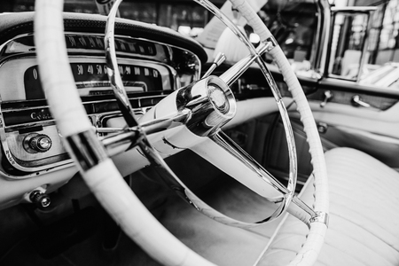 restored: Retro interior of old automobile