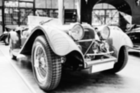 vintage transport retro car. Natural blurred background. Soft li