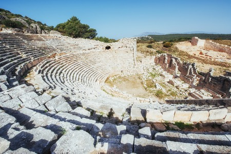 The ruins of the old amphitheater in Turkey. Reklamní fotografie