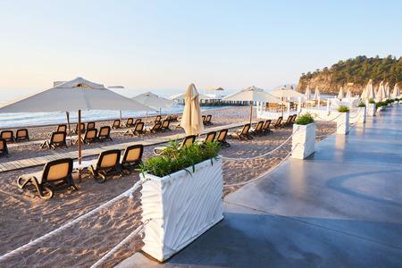 Beautiful embankment for walking and sport in Amara Dolce Vita Luxury Hotel. Alanya Turkey.
