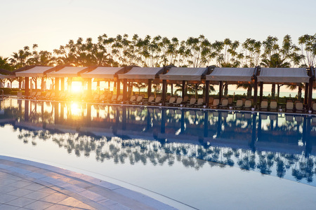 The popular resort with pools and water parks in Turkey. Hotel. Resort.