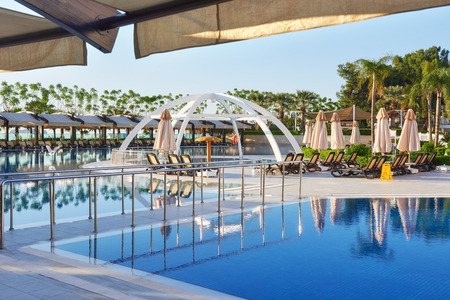 Type entertainment complex. The popular resort with pools and water parks in Turkey. Luxury Hotel. Resort Stok Fotoğraf - 86264799