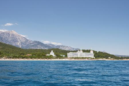 View of beautiful luxury hotel. A popular summer resort in Turkey