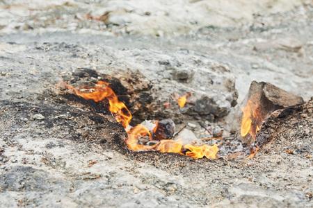 Chimera fire. On the hill near Chirali. Kemer