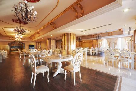 New and clean luxury restaurant in European style. Amara Dolce Vita Luxury Hotel. Resort. Tekirova-Kemer Stok Fotoğraf - 86670526