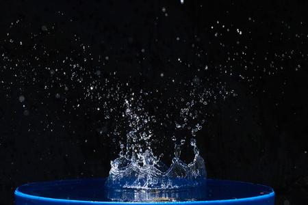 Splash water, water splashes, isolated on black background. Stock Photo