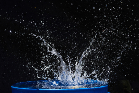 water splashes, isolated on a black background Stock Photo