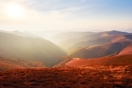 Autumn in mountain, amazing landscape Stock Photo