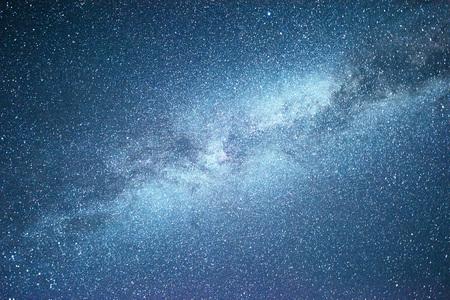 Vibrant night sky with stars and nebula and galaxy. Deep sky astrophoto