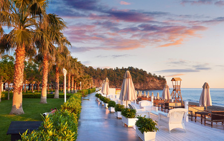 Beautiful embankment for walking and sport in Amara Dolce Vita Luxury Hotel. Alanya Turkey