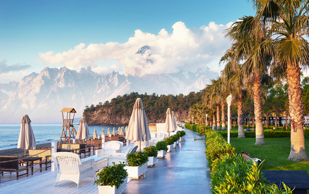 Beautiful embankment for walking and sport in Amara Dolce Vita Luxury Hotel. Alanya Turkey