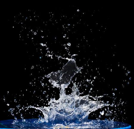 Splash water, water splashes, isolated on black background Stock Photo