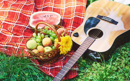 bard: Picnic with watermelons and basket