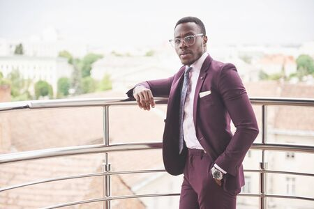 A young African American businessman is ready to meet Reklamní fotografie