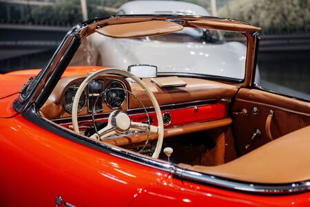 Take a look closer. Inside of expencive collectible vintage car.
