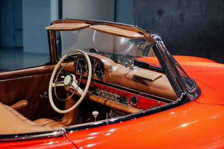 Such a gorgeous thing. Take a look closer. Inside of expencive collectible vintage car.