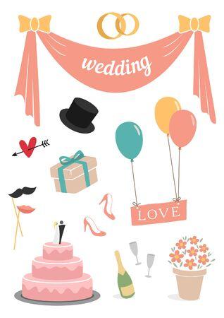 Wedding set of 11 items pastel