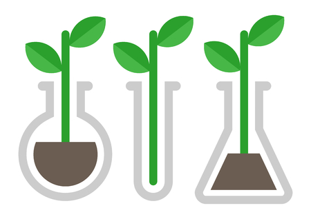Chemistry icon. Plant in vitro Stock Illustratie
