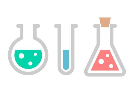 Chemistry icon. Test-tubes with liquid 矢量图像