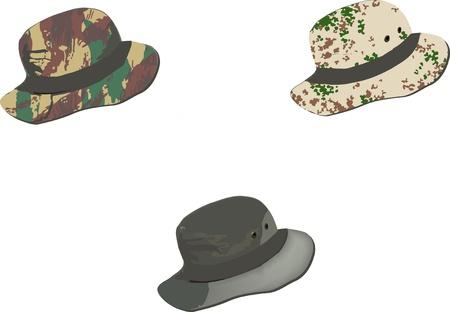 cappelli mimetici Illustration