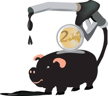 piggy bank with oil pump Stock Vector - 11812938
