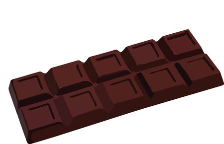 bar of dark chocolate Illustration