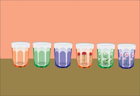 series of glasses Stock Vector - 12054351