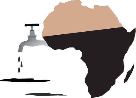African oil tank Иллюстрация