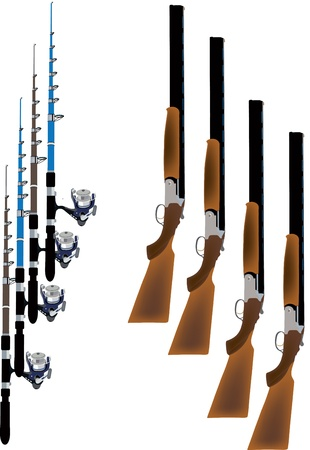 number of hunting rifles and fishing rods