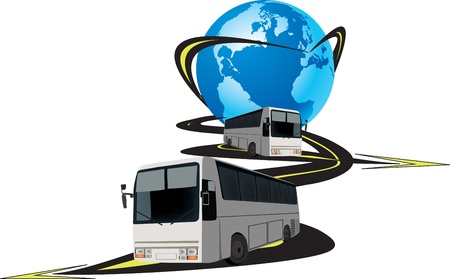 international passenger transport Illustration