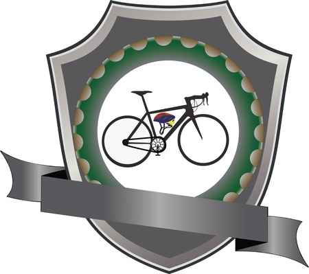 bicycle and cycling gear logo sticker Illustration