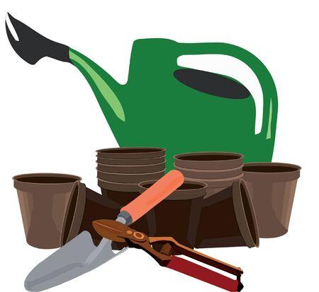 gardening accessories Illusztráció